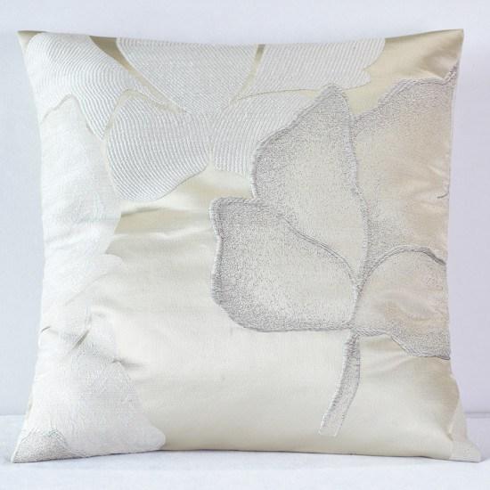 Champagne Gardenia Pillow