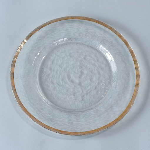Clear Charger with Gold Rim