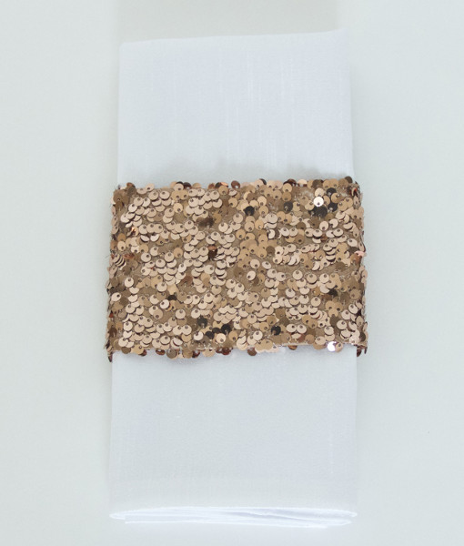 Copper Sequin Taffeta - Napkin Band