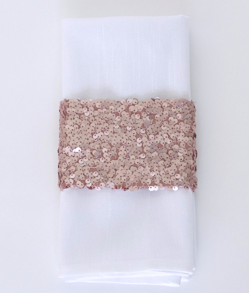 Dusty Rose Sequin Taffeta - Napkin Band