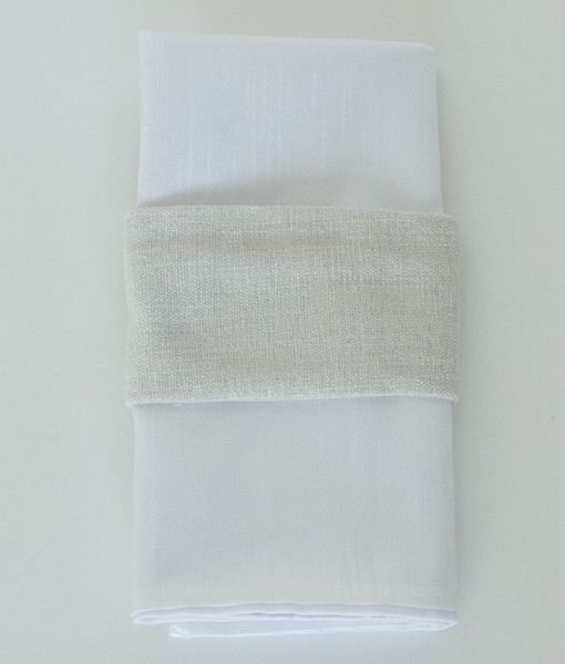 Flax Metallic Burlap - Napkin band