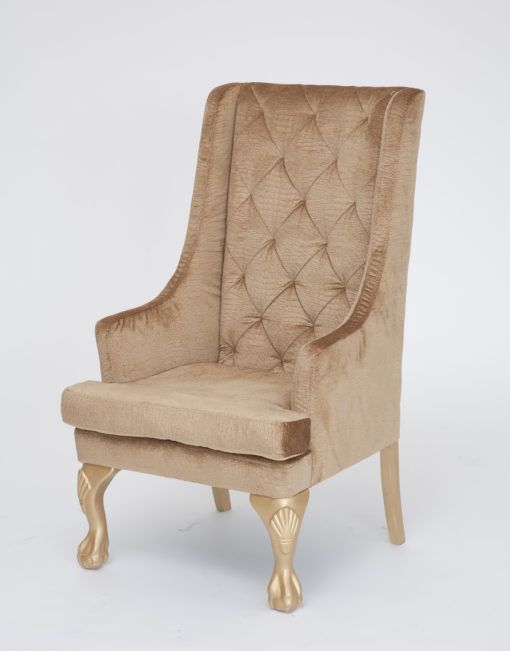 Gold Croc Highback Chair