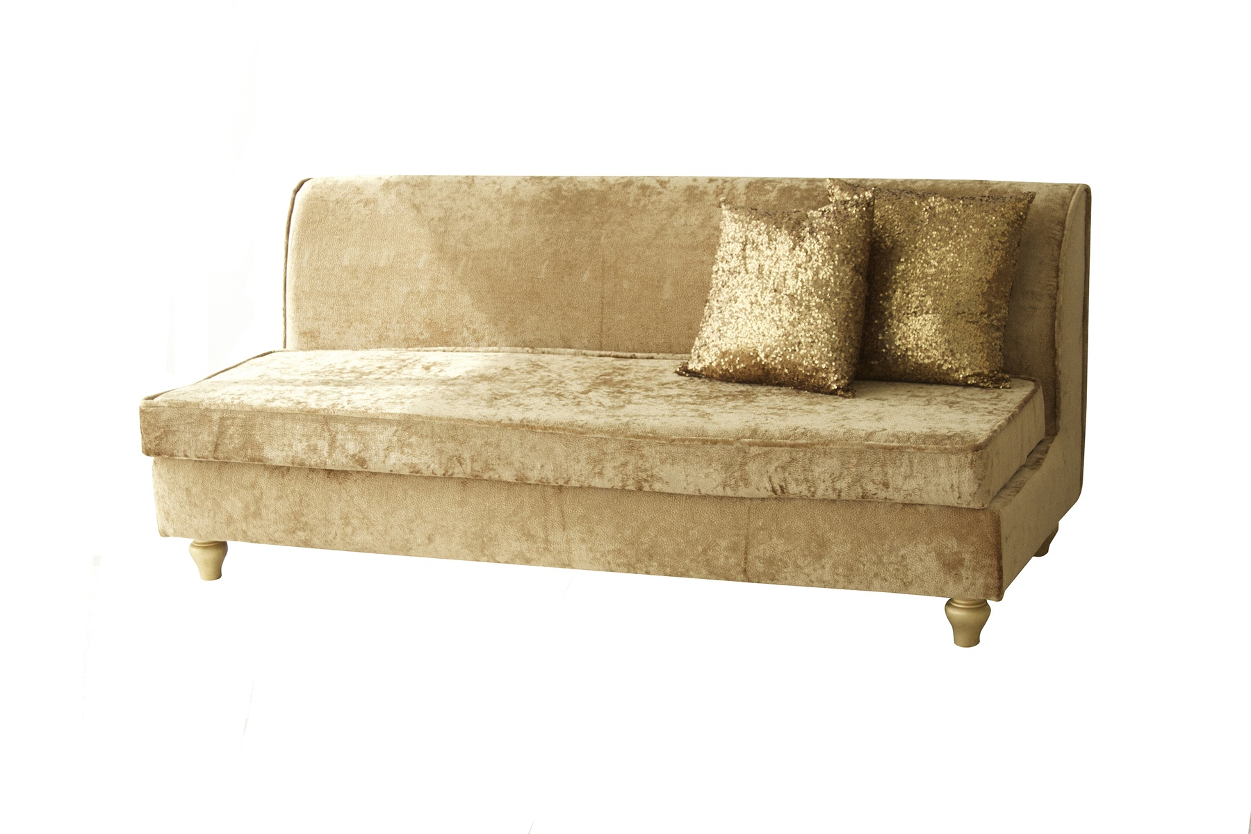 Sofa gold gold french sofa john gandy events tee event for Gold velvet sectional sofa
