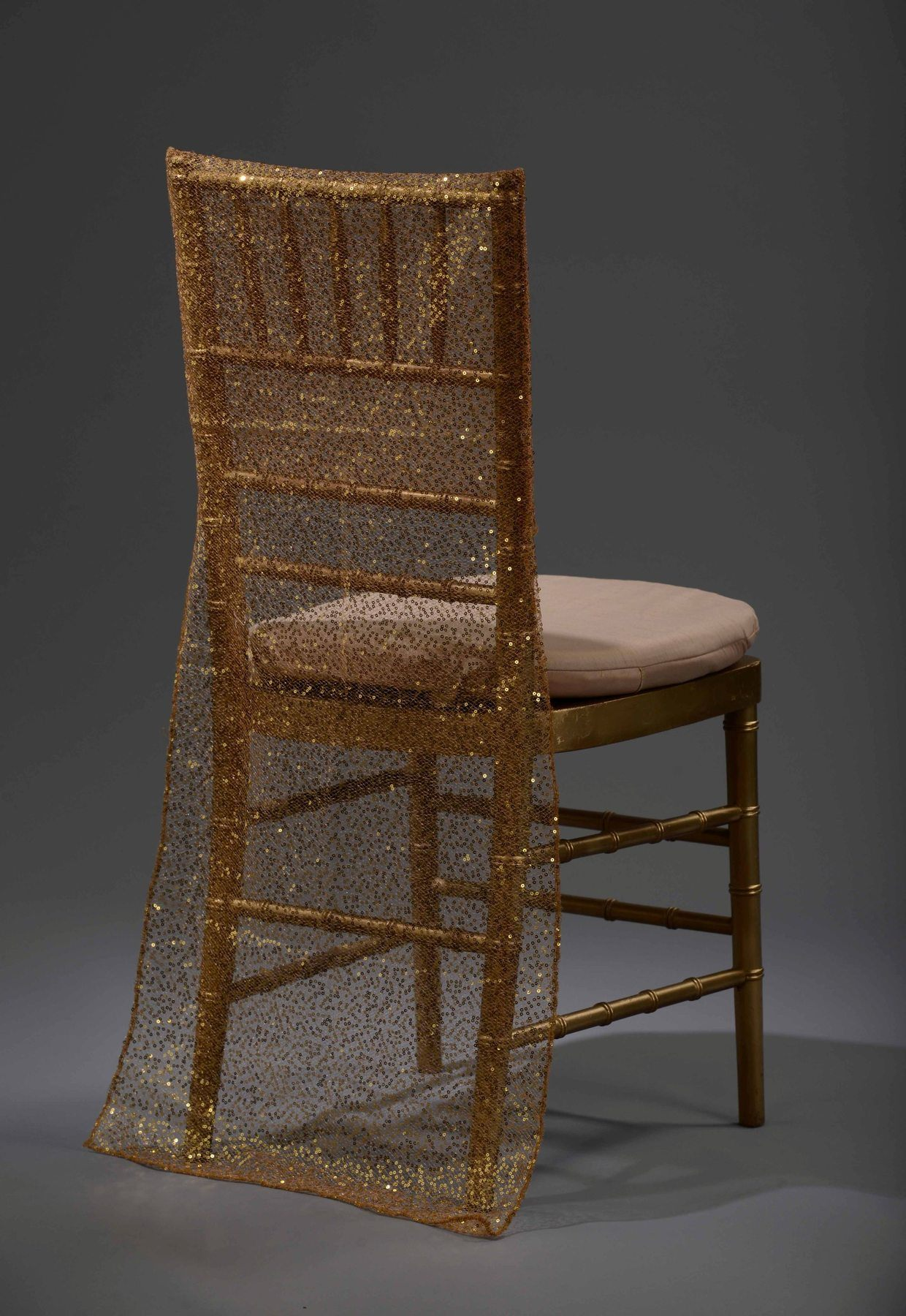 Gold Sequin Mesh Chair Back Nüage Designs