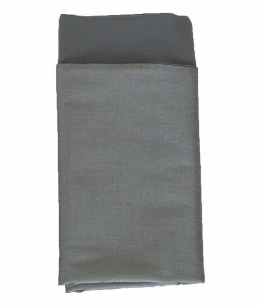 Heather Grey Faux Dupioni Lined Napkin web