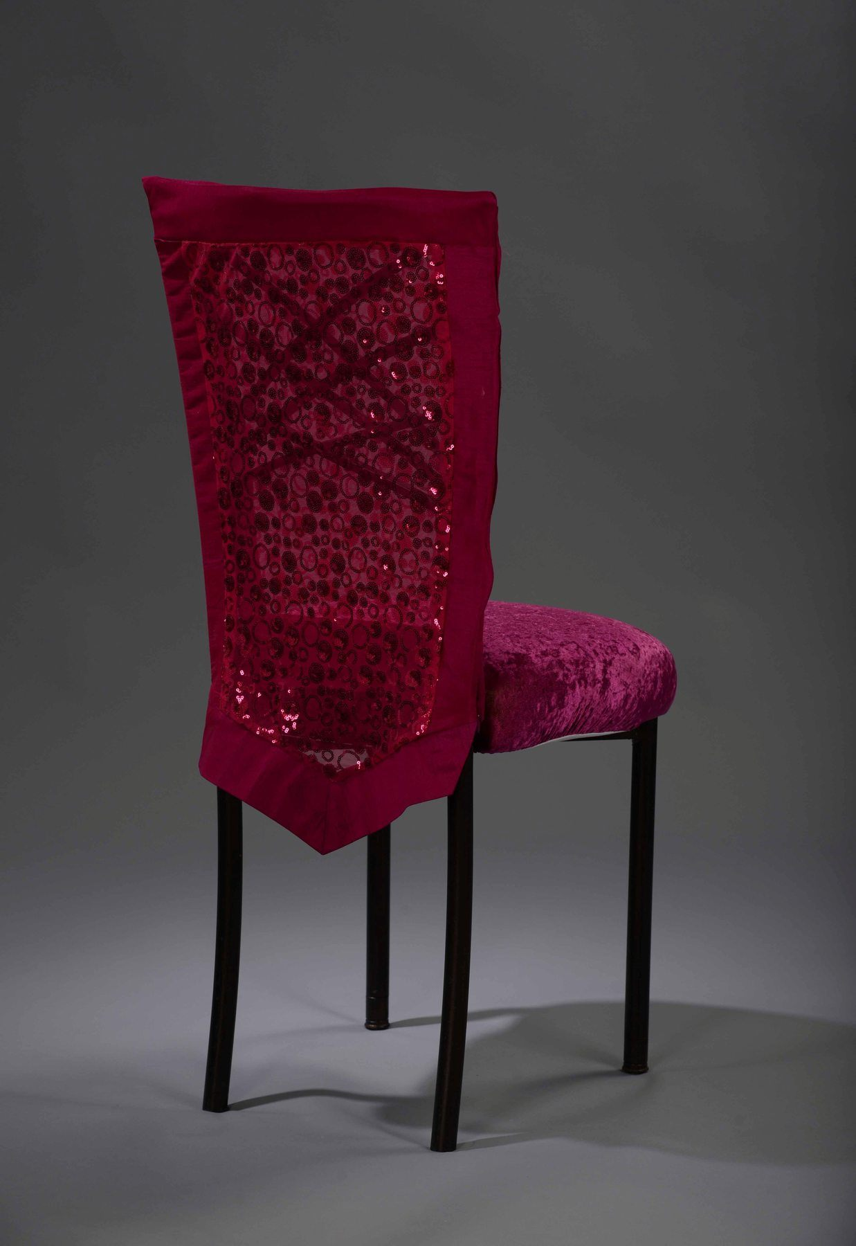 Hot Pink Sequin Bubble Chameleon Chair Cover N 252 Age Designs