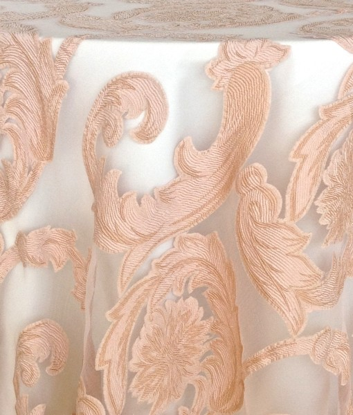 blush damask scroll