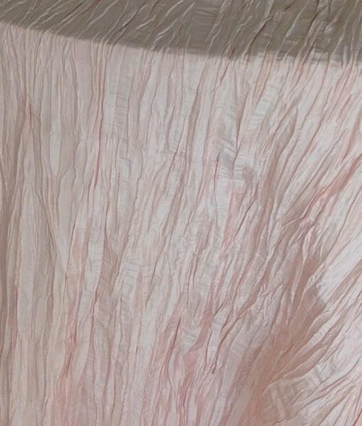 pink crinkled taffeta