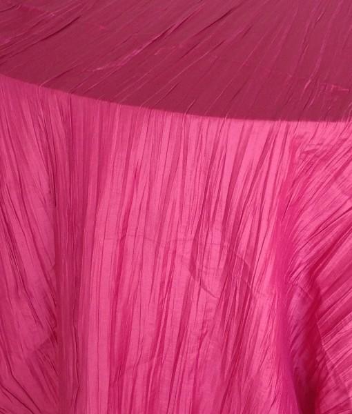 hot pink crinkled taffeta