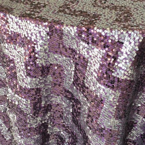 purple sequin chevron