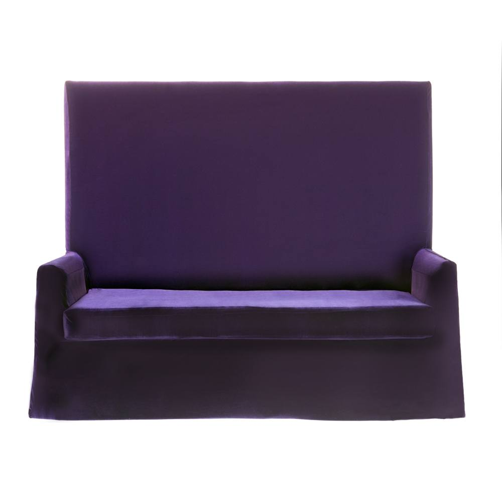 Purple Velvet High Back Sofa N Age Designs
