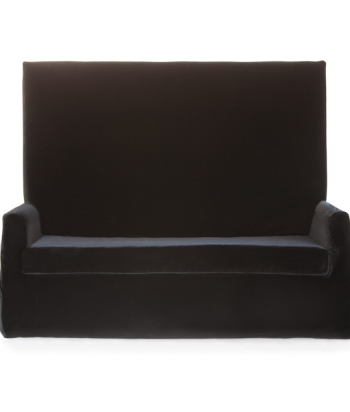 Black Velvet Highback Sofa