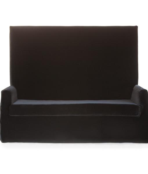 Black Velvet Highback Sofa