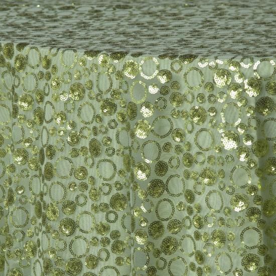 chartreuse sequin bubble