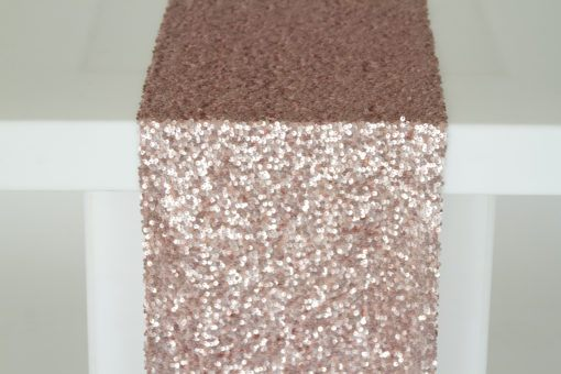 Blush Sequin Taffeta Runner