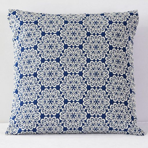 Navy Stencil Pillow