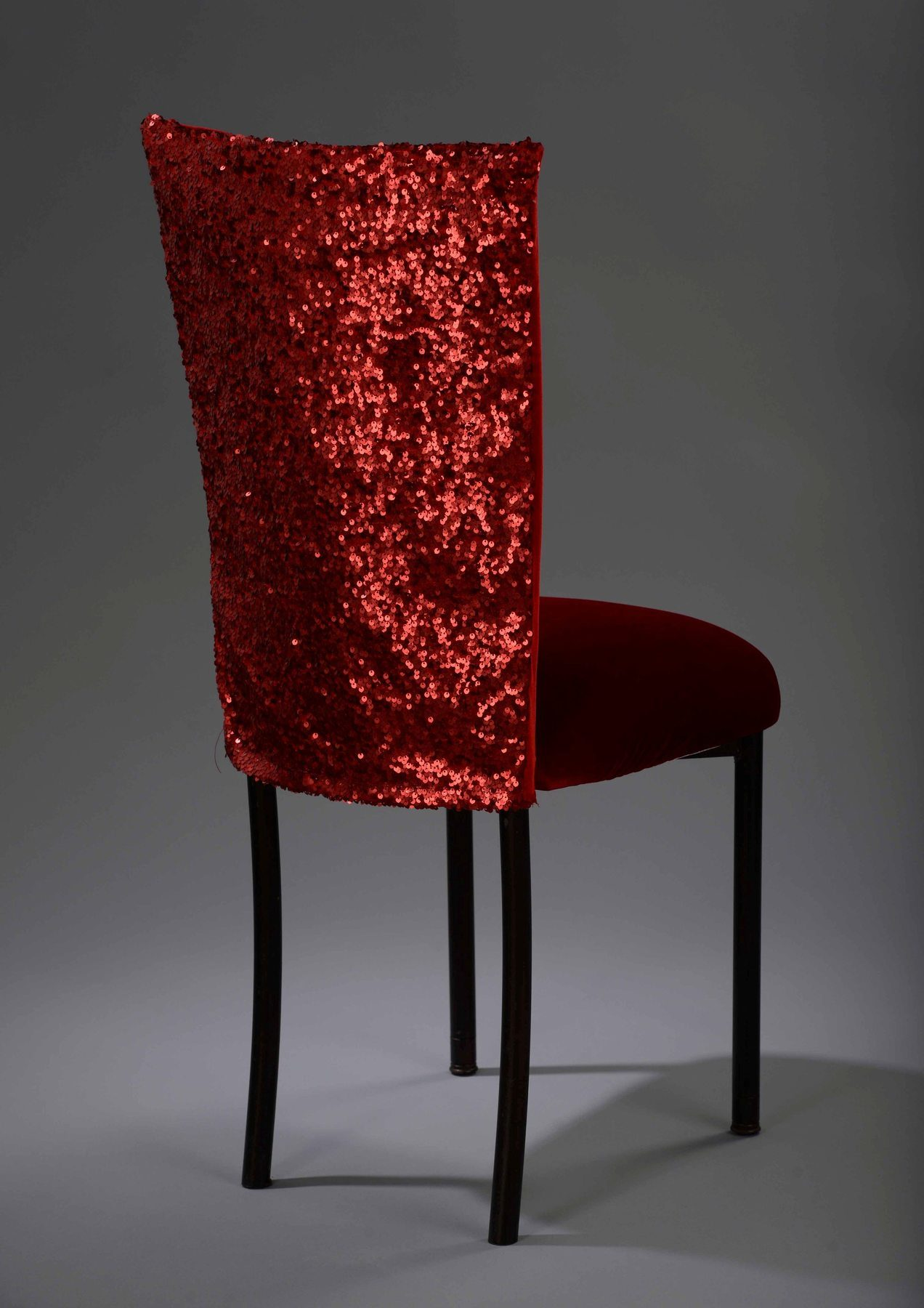Red Sequin Taffeta Chameleon Chair Cover N 252 Age Designs