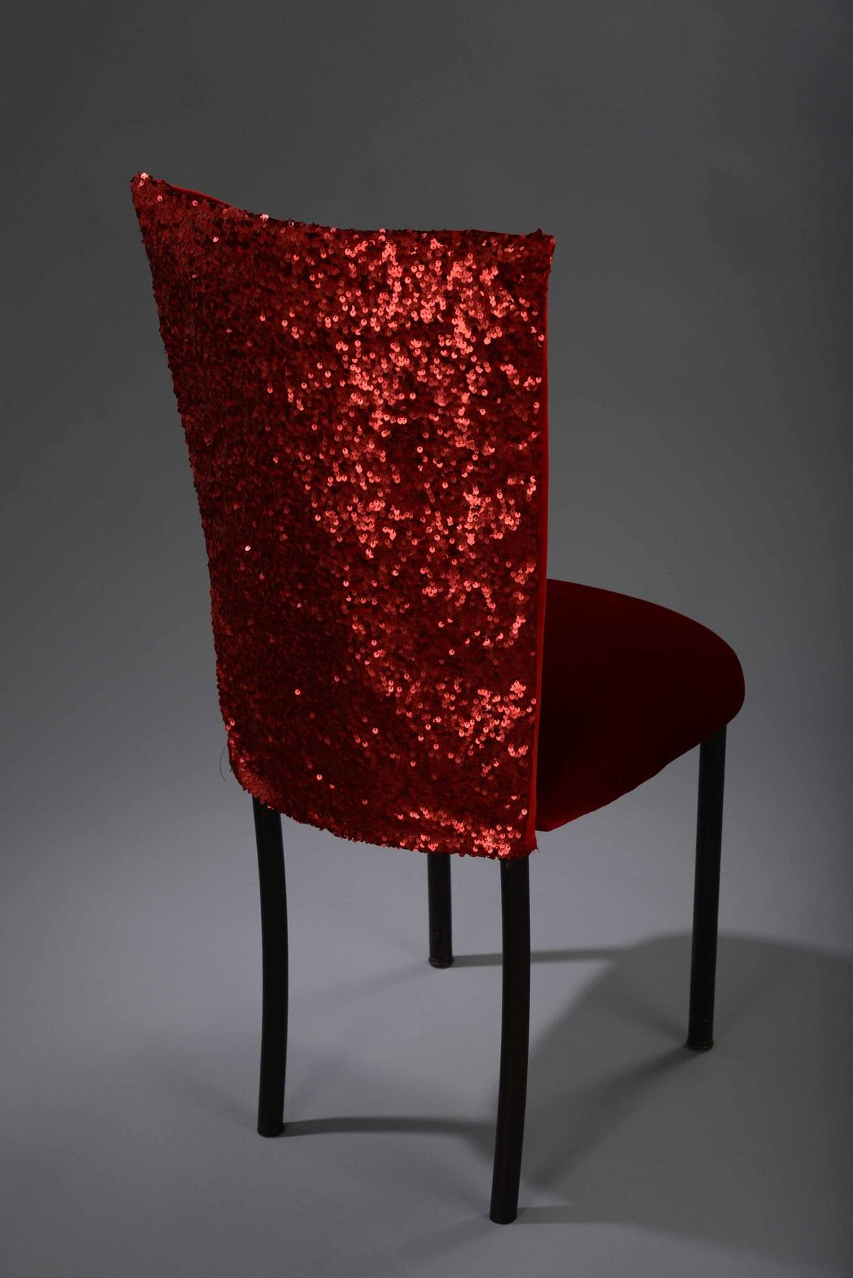 Red Sequin Taffeta Chameleon Chair Cover Nüage Designs