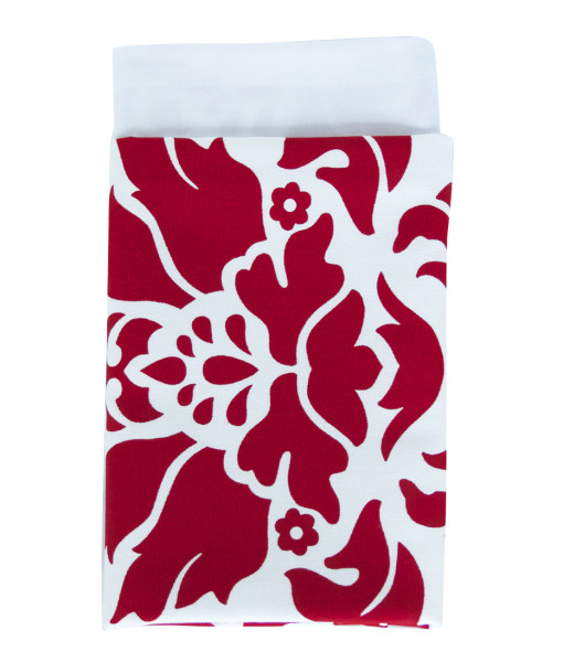 Red & White Baroque Lined Napkin web