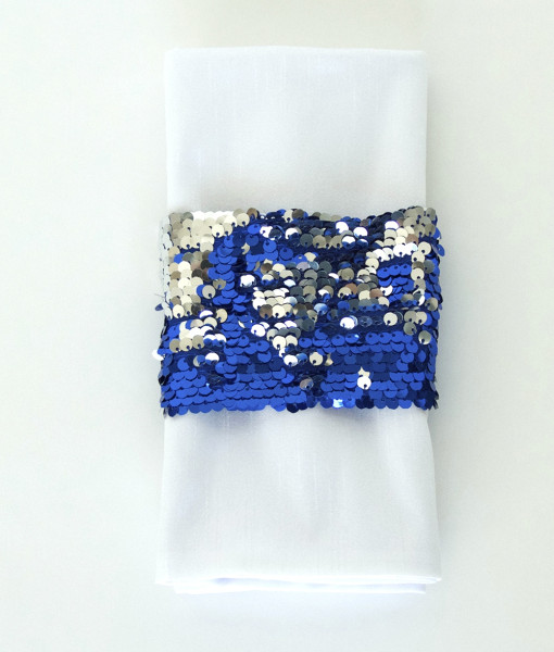 Royal and Silver Koi - Napkin Band_