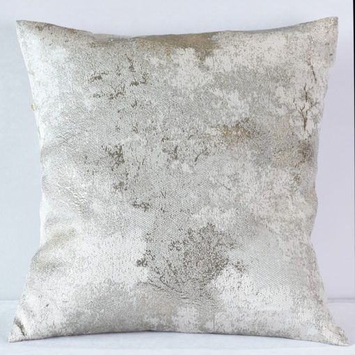 Silver Metallic Forest Pillow