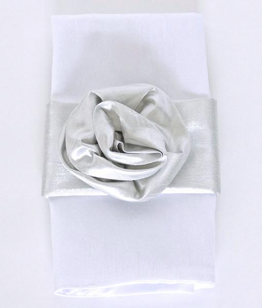 Silver Rose Napkin Band - Preston Bailey Collection