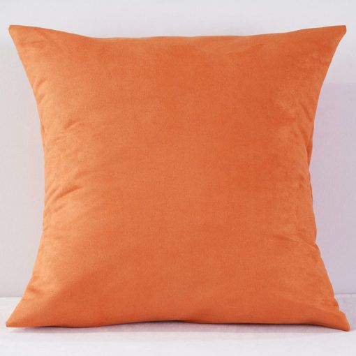Tangerine Suede Pillow