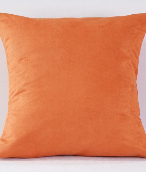 Tangerine Suede Pillow