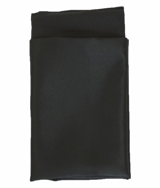 Ultra Black Matte Satin Lined Napkin web