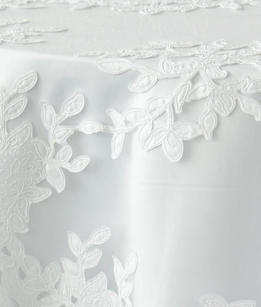 White Vine Tulle 1 (white underlay)