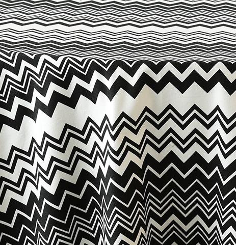 White w Black Zig Zag 1