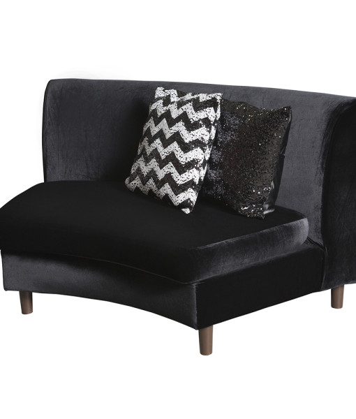 black velvet club sofa