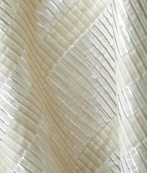 bone and silver metallic stripe