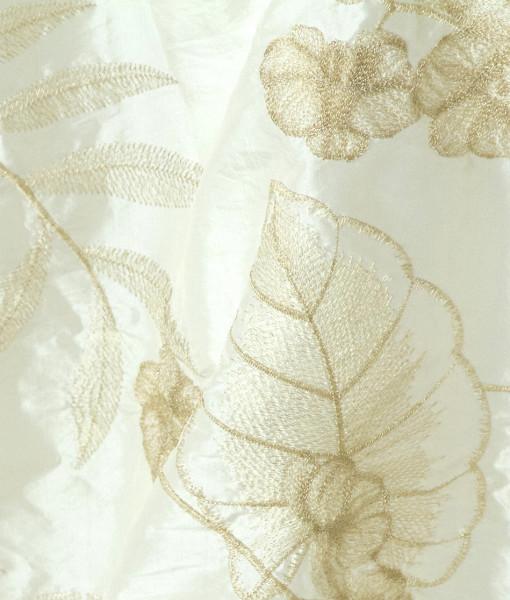 ivory gold orchid taffeta 2