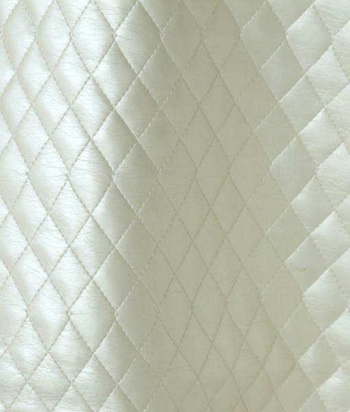ivory quilted leather