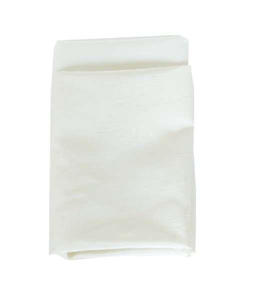 lace ivory faux dupioni napkin web