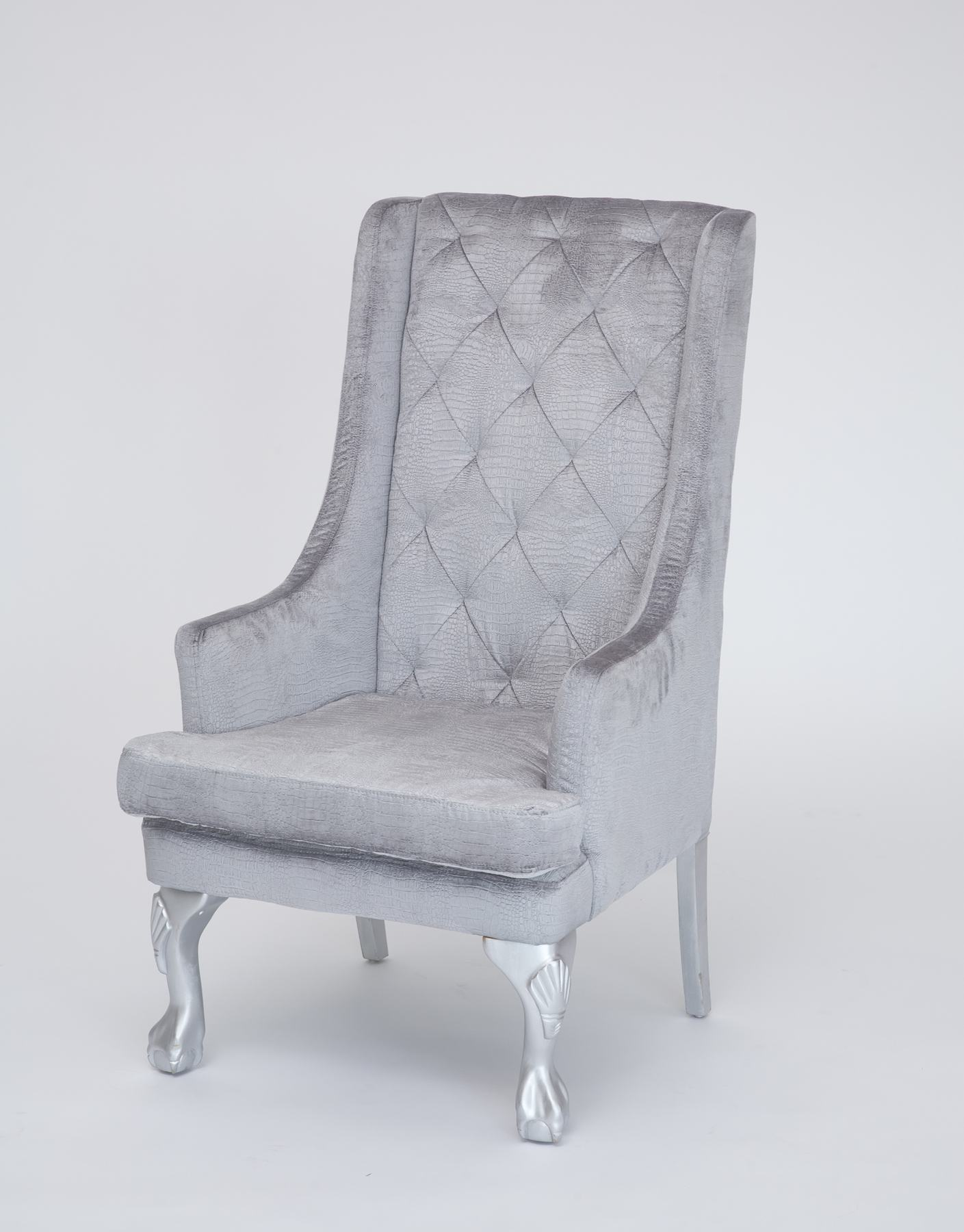 High Wingback Dining Chair With Arms