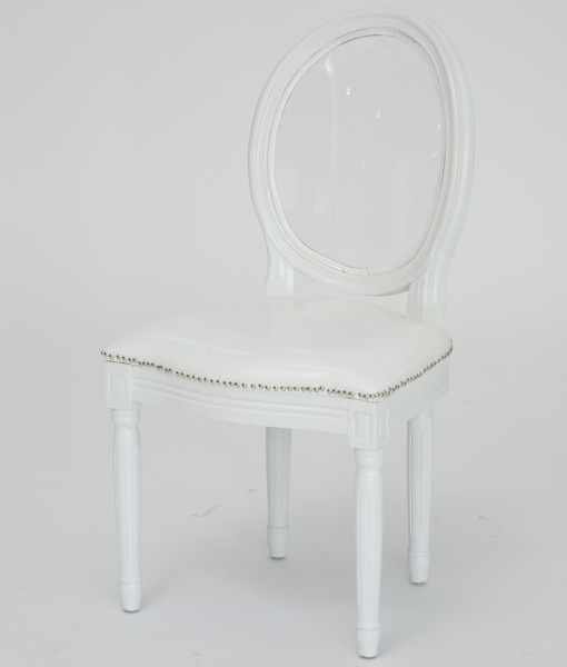 white louis pop dining chair