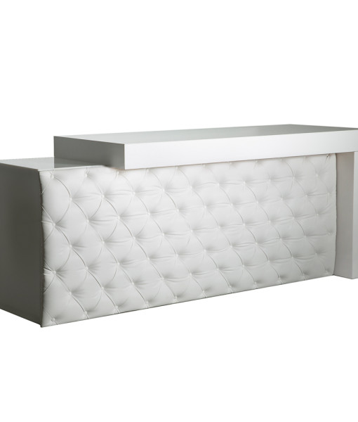 white tufted leather bar web