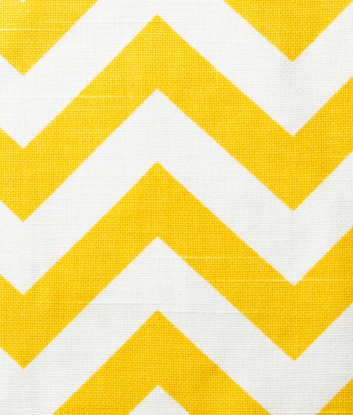 yellow & white zig zag