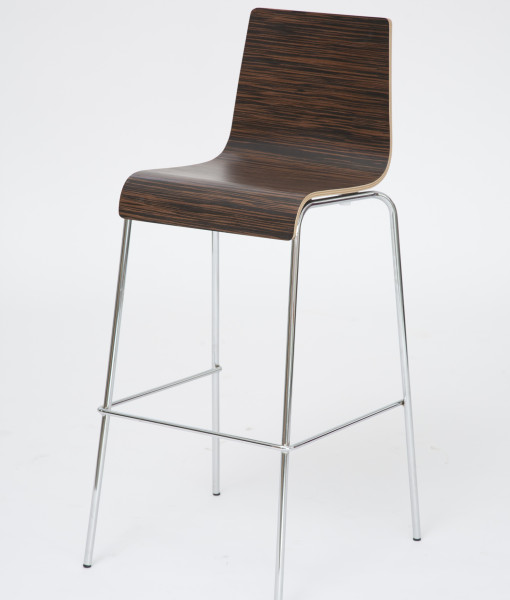 zebra wood bar stool