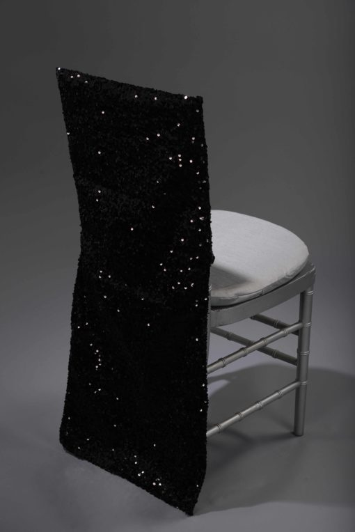Black Sequin Taffeta