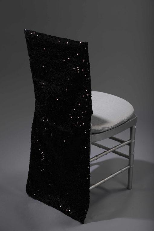 Black Sequin Taffeta