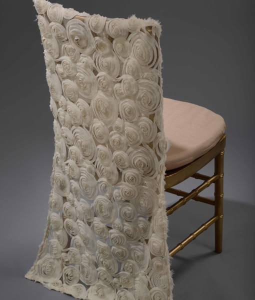 Ivory Tulle Blossom chair back