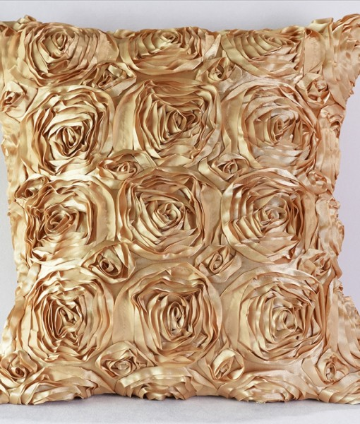 Gold Blossom Pillow