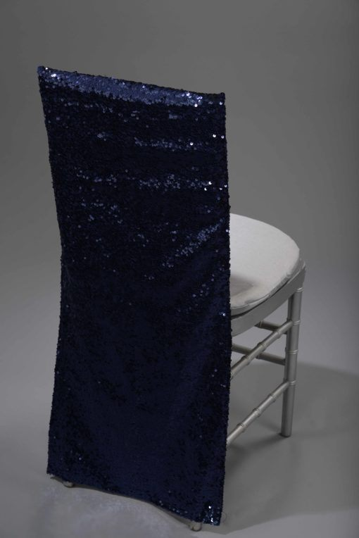 Navy Sequin Taffeta chair back
