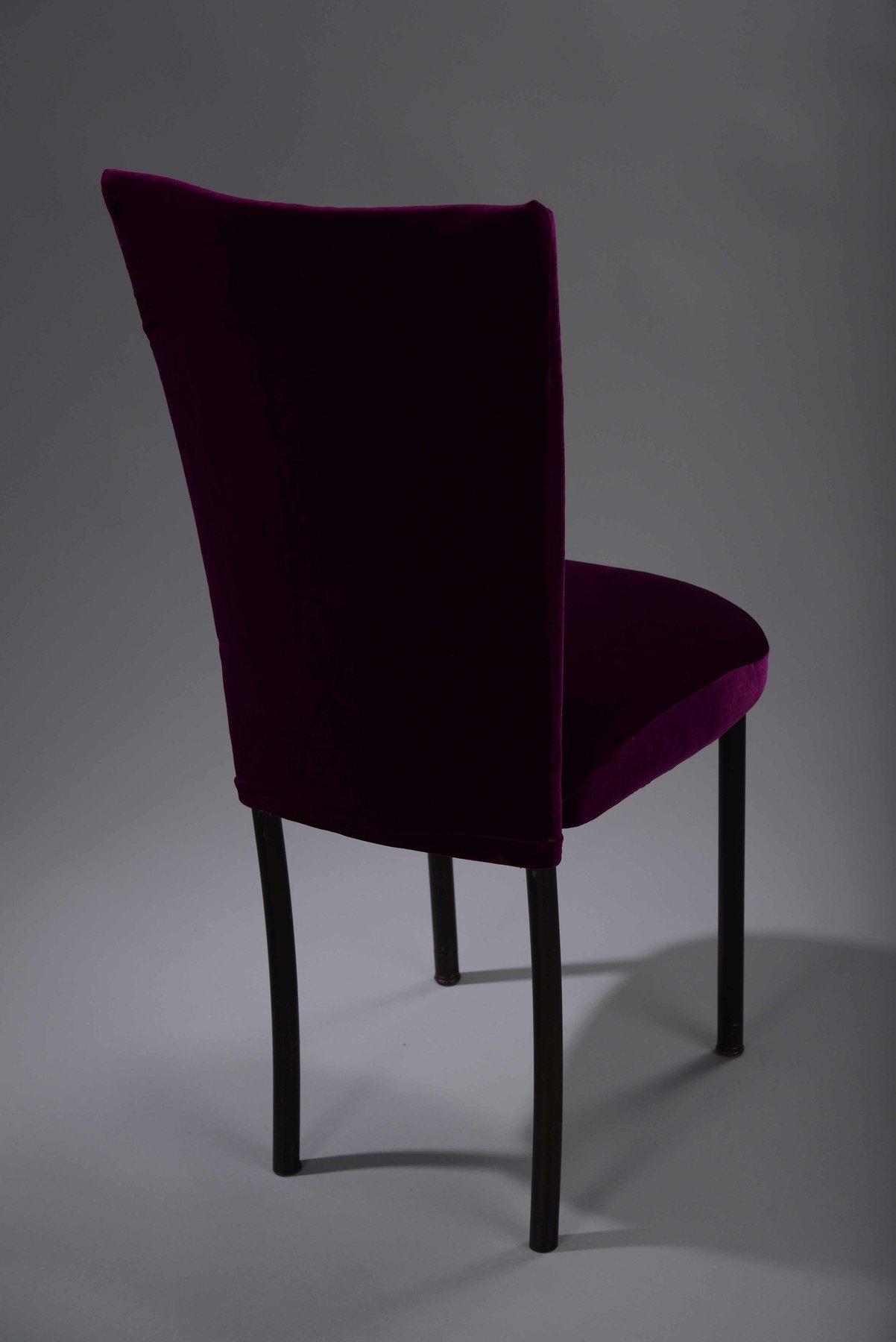 Purple velvet chair - Purple Velvet Chameleon