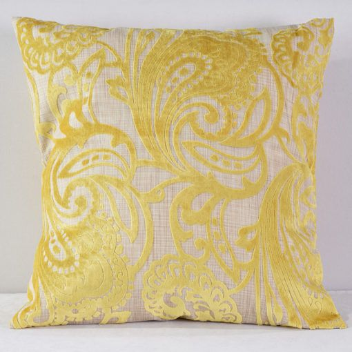 Citrus Hemp Flocking Pillow