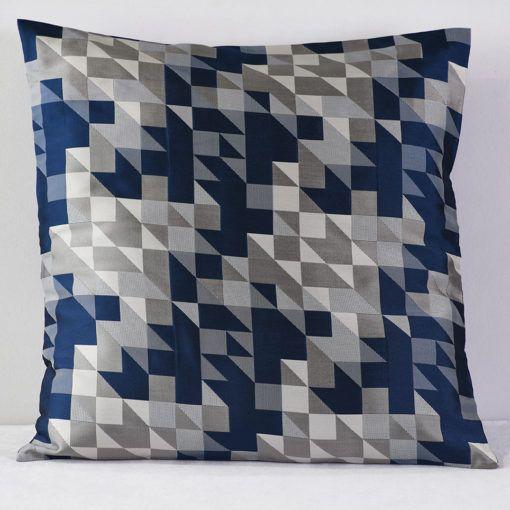 Navy Geo Mod  Pillow
