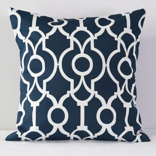 Navy Lyon Pillow